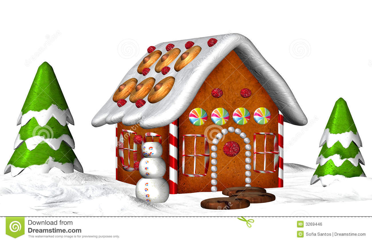 christmas clip art gingerbread house - photo #48