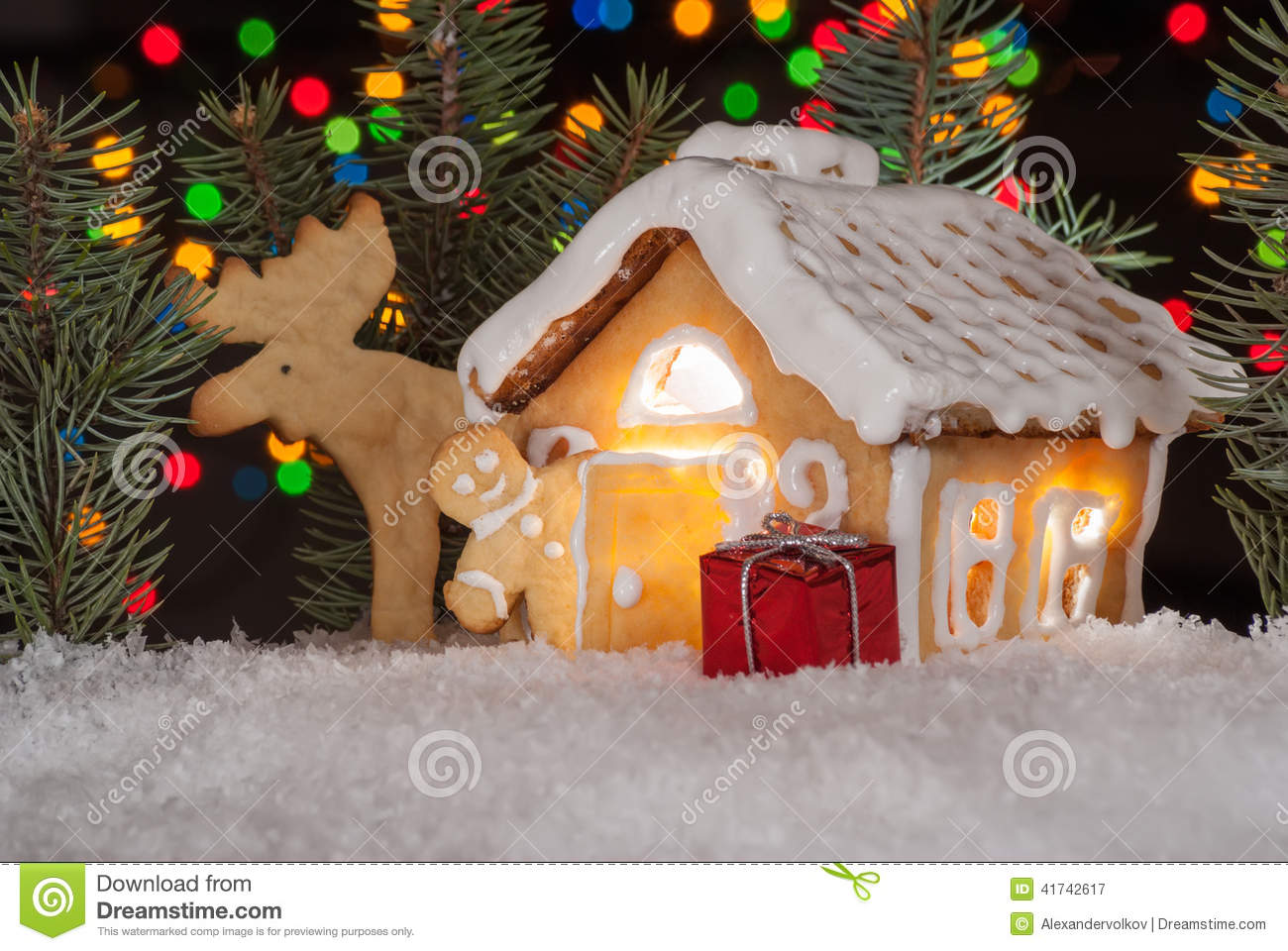 Gingerbread house christmas tree decoration