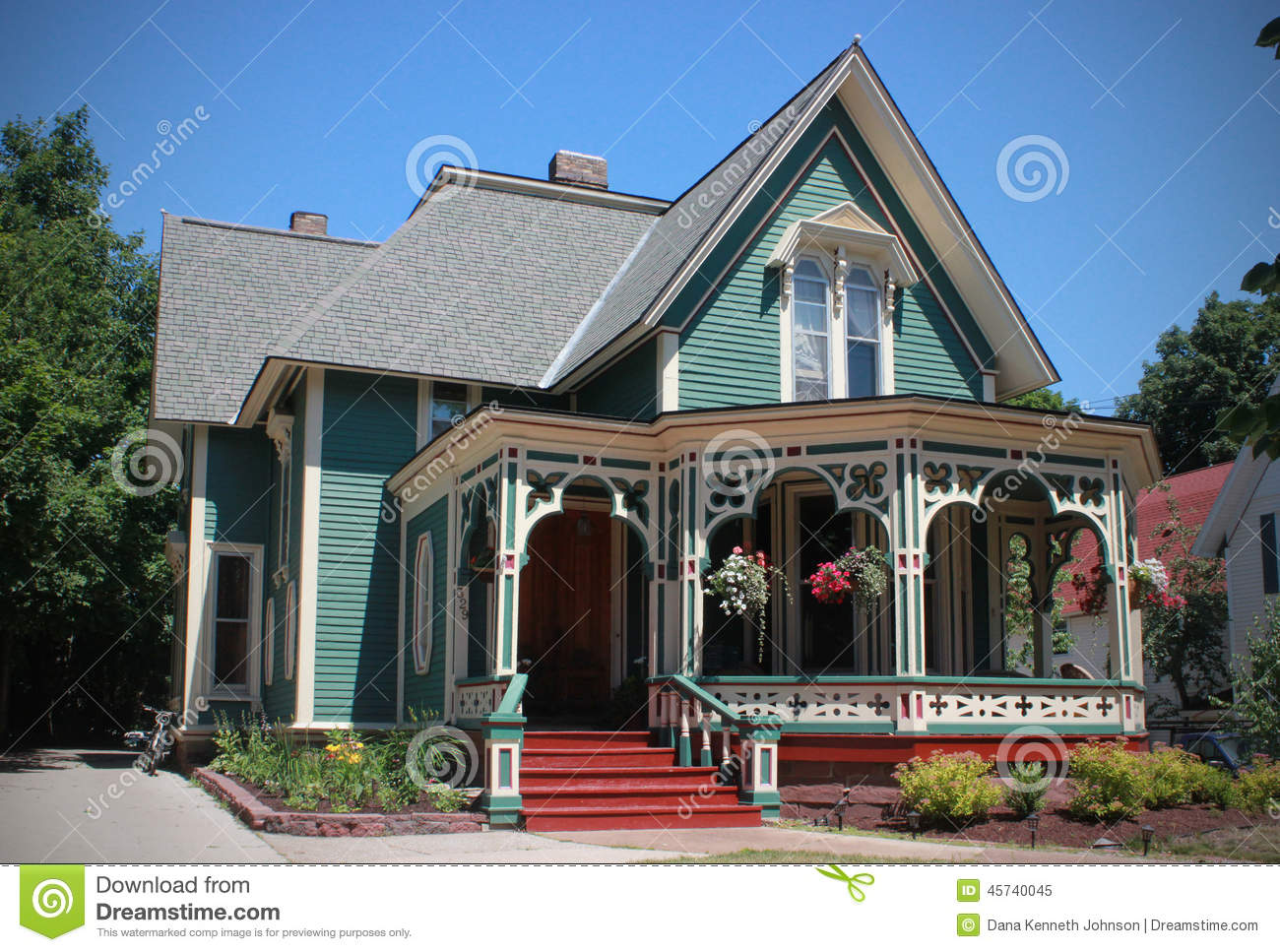 Gingerbread house marquette michigan stock photo image for Gingerbread trim for houses