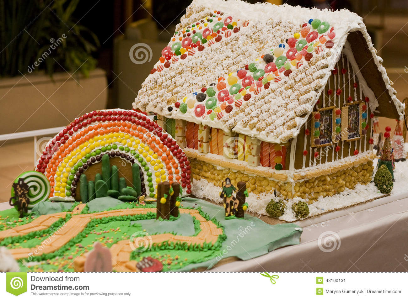 download gingerbread house stock image image of decor icing 43100131 - Gingerbread House Christmas Decorations