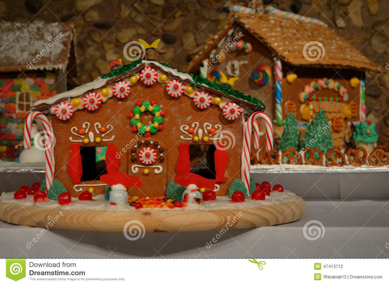 Gingerbread Houses Stock Photo Image 47413712