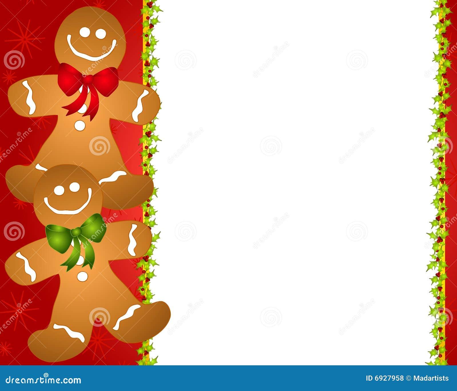 gingerbread man border 2 stock illustration illustration Winter Newsletter Template free winter clip art border for word