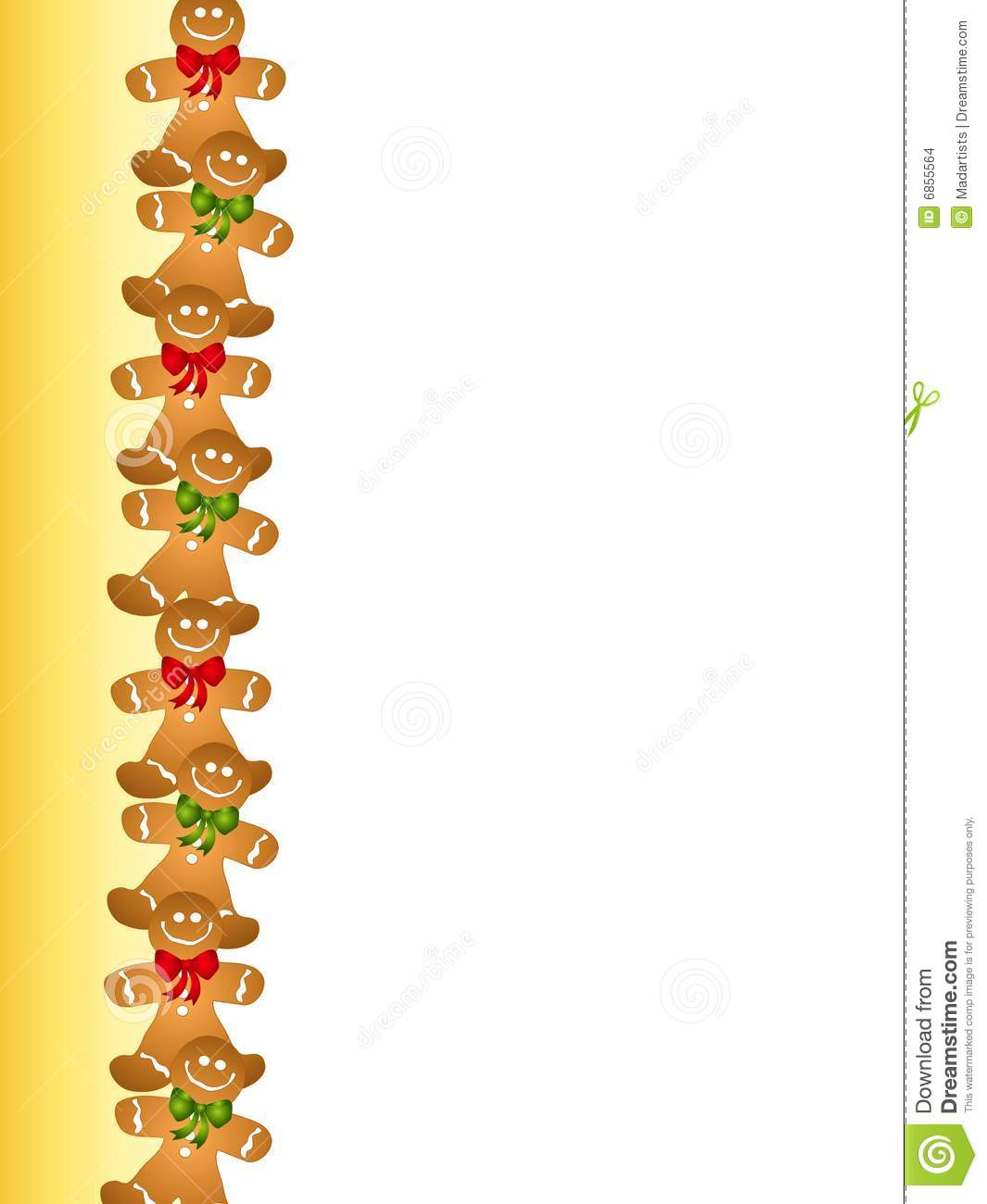 Gingerbread Man Border Stock Images Image 6855564