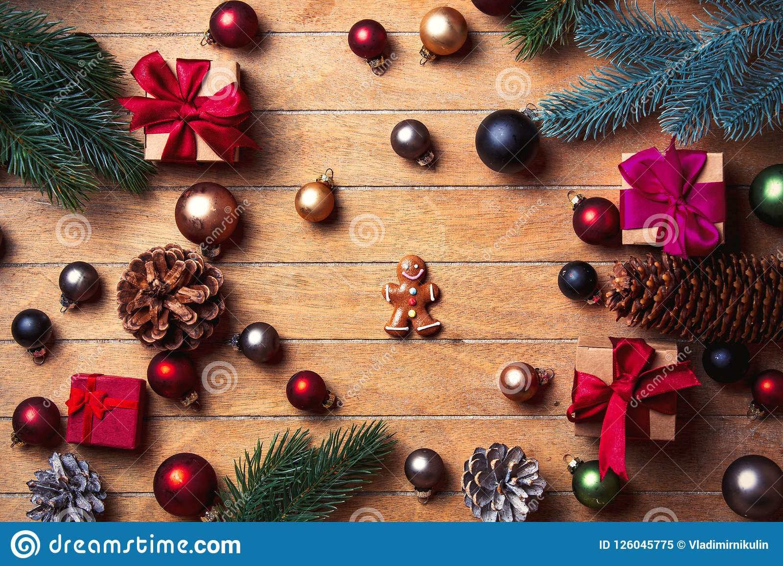 download gingerbread man with christmas decoration stock image image of pine celebration 126045775
