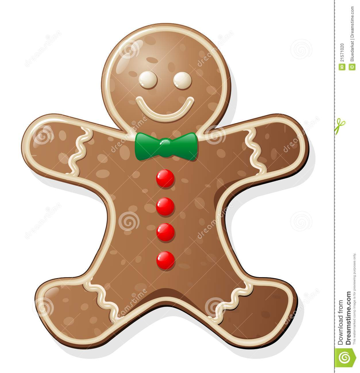 Gingerbread Man Cookie stock vector. Illustration of symbolic - 21571020