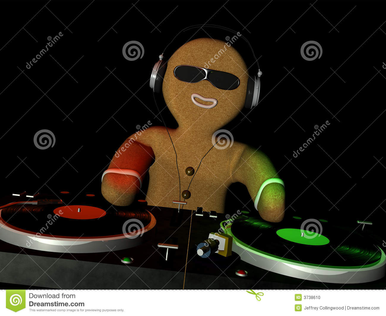 Gingerbread Man Is In Da House Stock Photo Image 3738610
