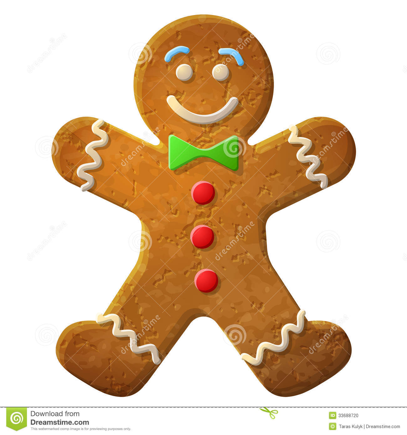 Gingerbread Man Decorated Colored Icing Stock Photo - Image: 33688720
