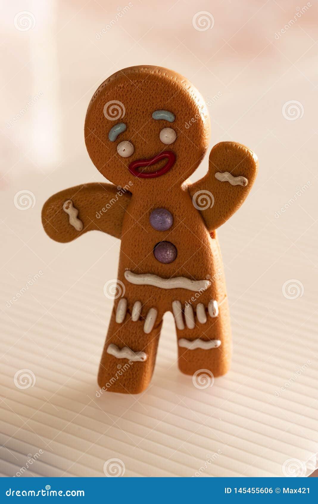 Gingerbread man running away.