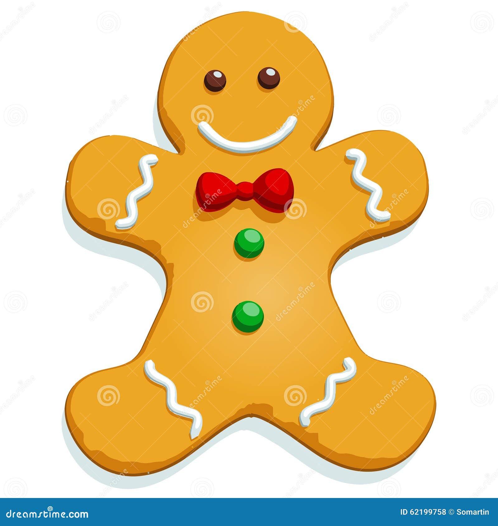 1300 x 1390 jpeg 115kB, Gingerbread man Christmas character on white ...
