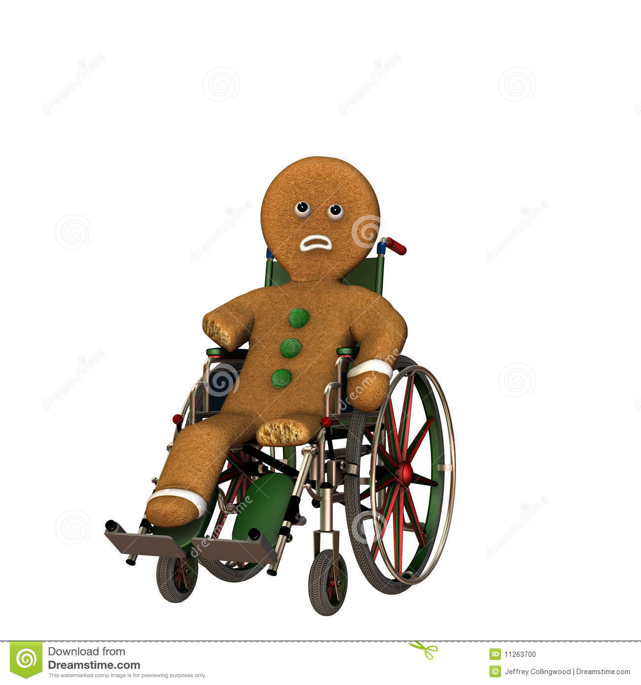 Gingerbread Man In Wheelchair Stock Photo Image 11263700