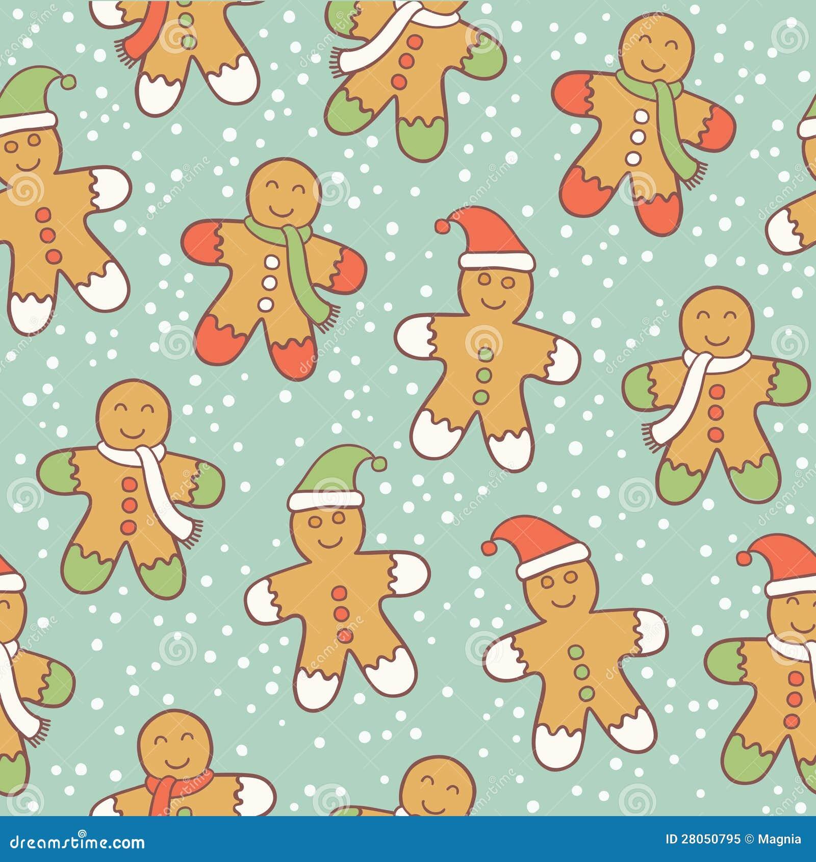 Gingerbread men pattern