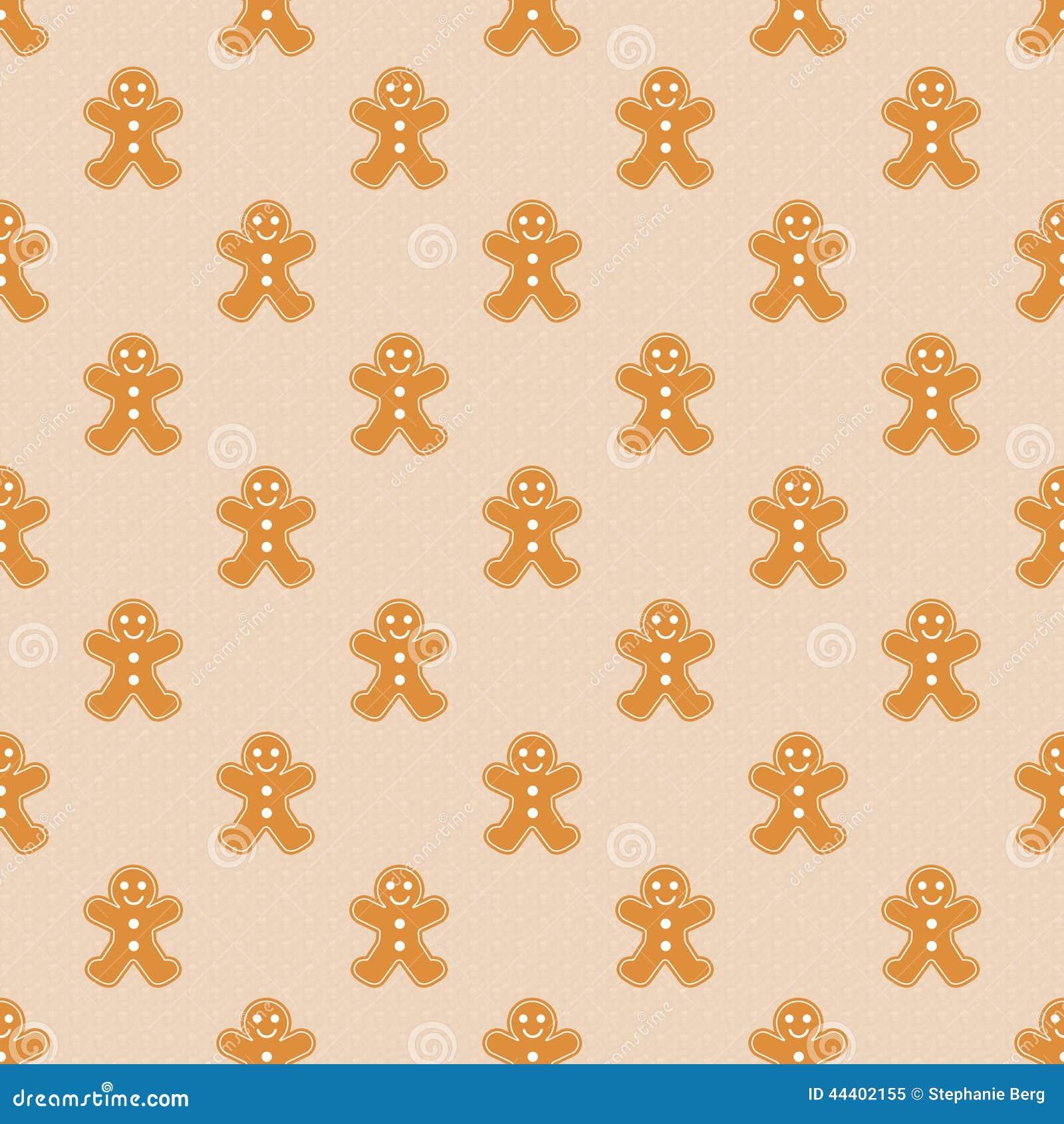 Gingerbread Men Wallpaper Stock Illustration Image 44402155
