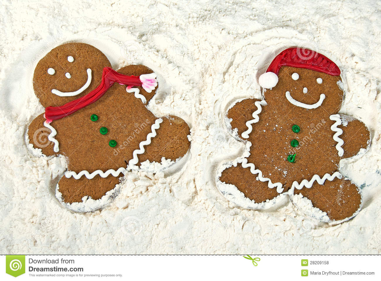 Gingerbread Snow Angels Royalty Free Stock Photos - Image: 28209158