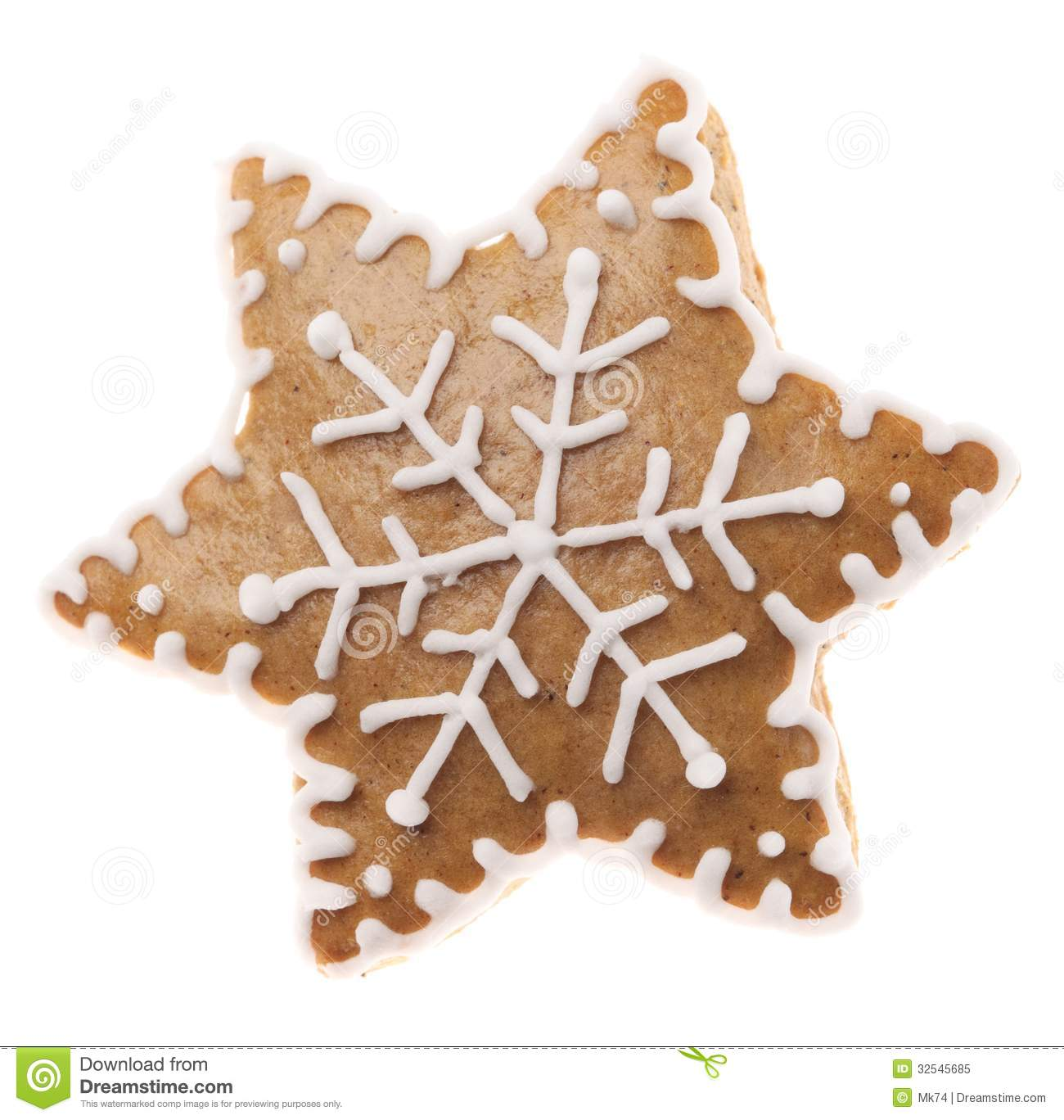 Gingerbread Star Royalty Free Stock Photo - Image: 32545685