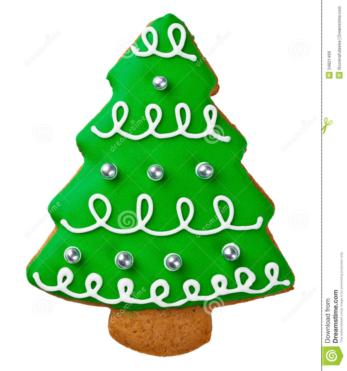 Gingerbread Tree Stock Photo Image Of Homemade Closeup 34821468