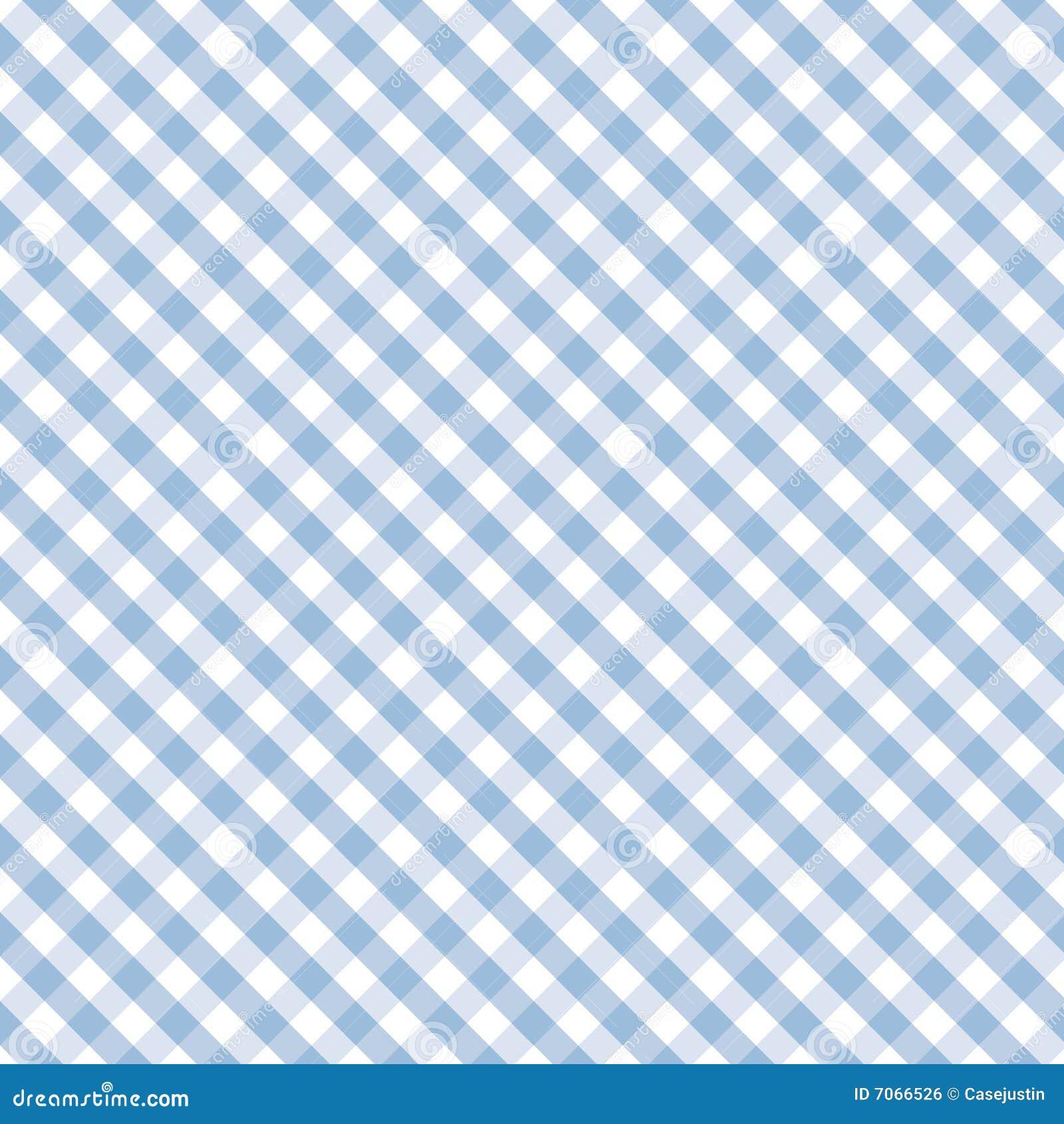 Gingham Cross Weave Pastel Blue Seamless Stock Vector