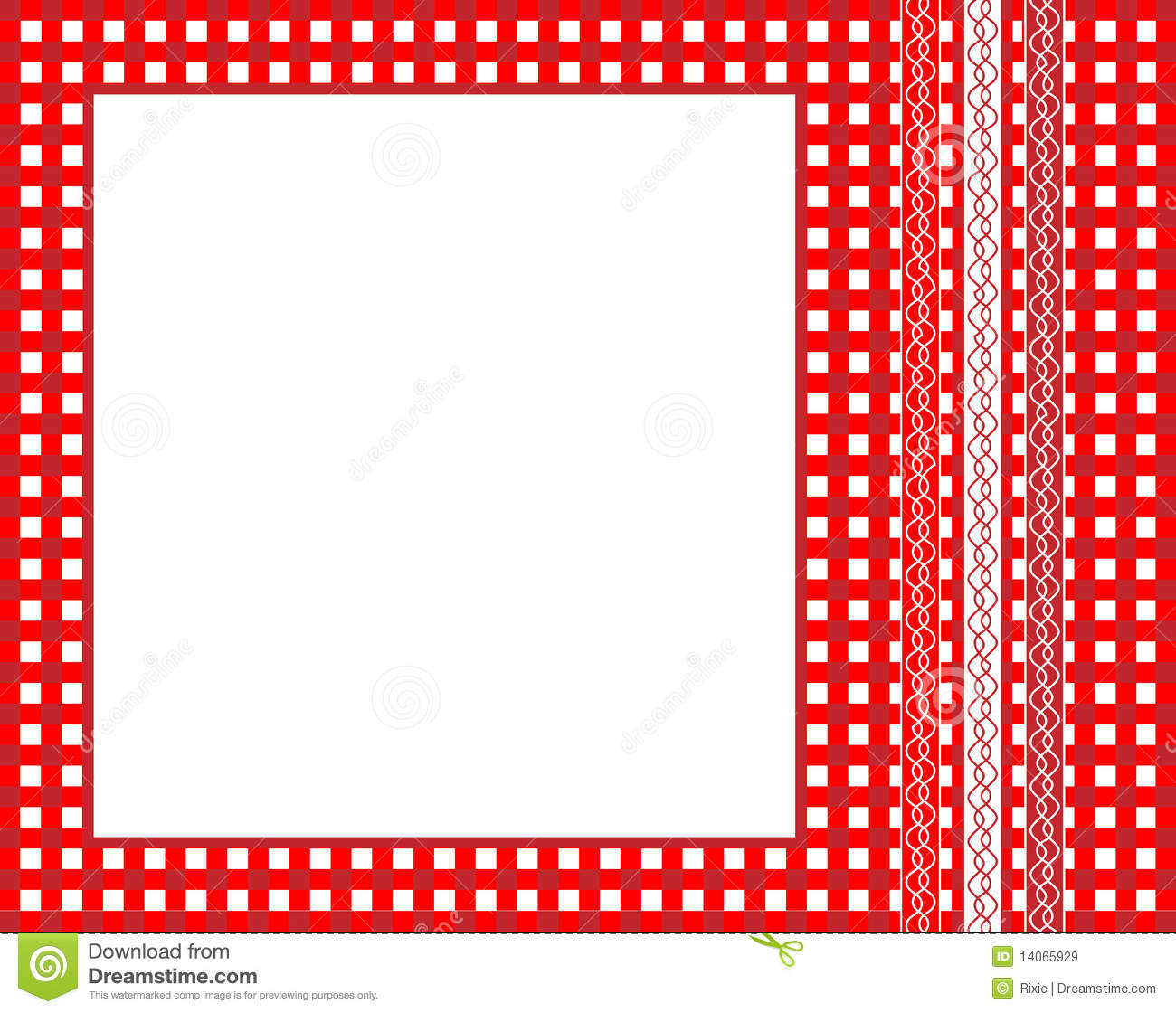 Gingham frame stock vector. Illustration of country, picnic - 14065929