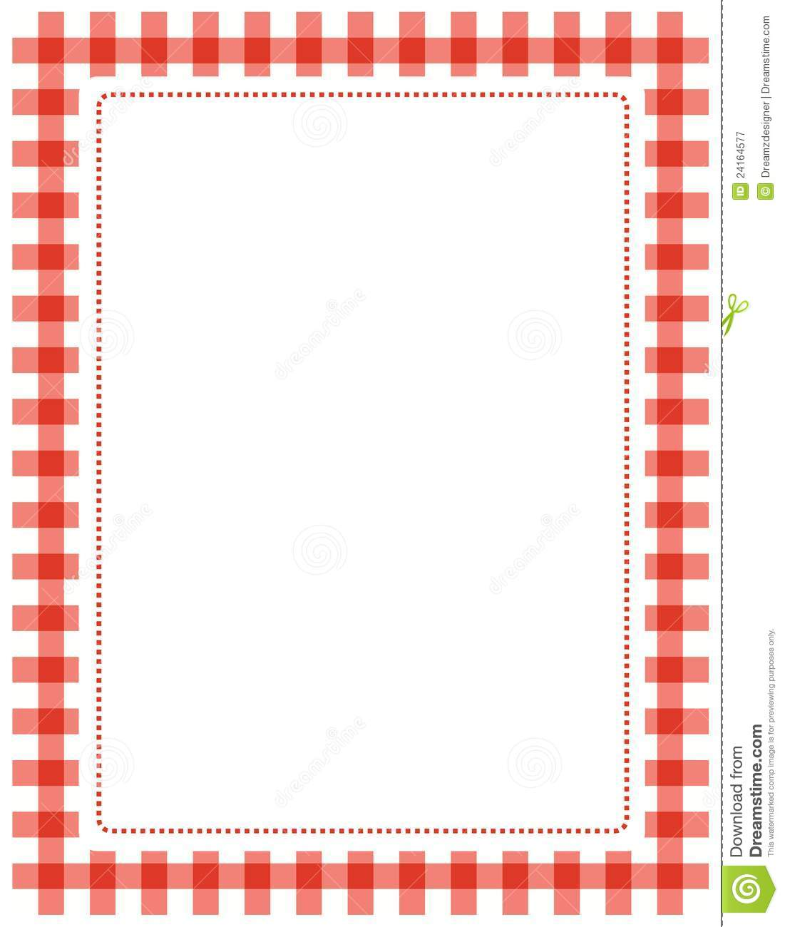 Gingham frame stock vector. Illustration of canvas, coloured ...