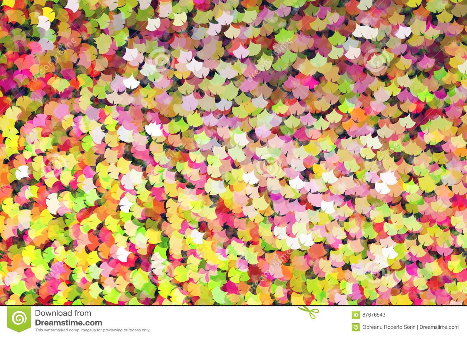 Ginkgo Shape, Abstract Background, Digital Art Work. Stock ...
