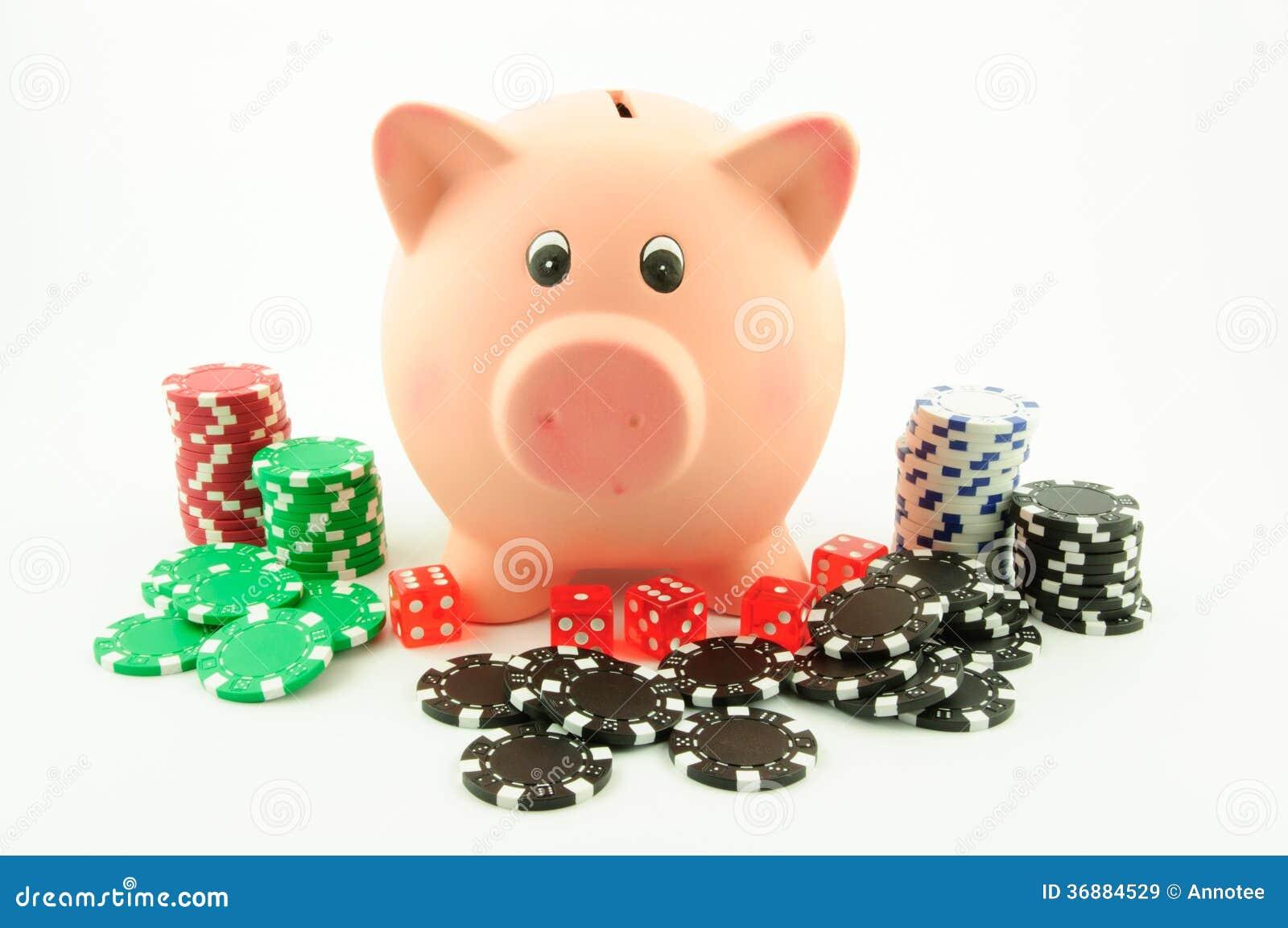 Download Giocando Con Il Porcellino Salvadanaio Immagine Stock - Immagine di banking, chips: 36884529