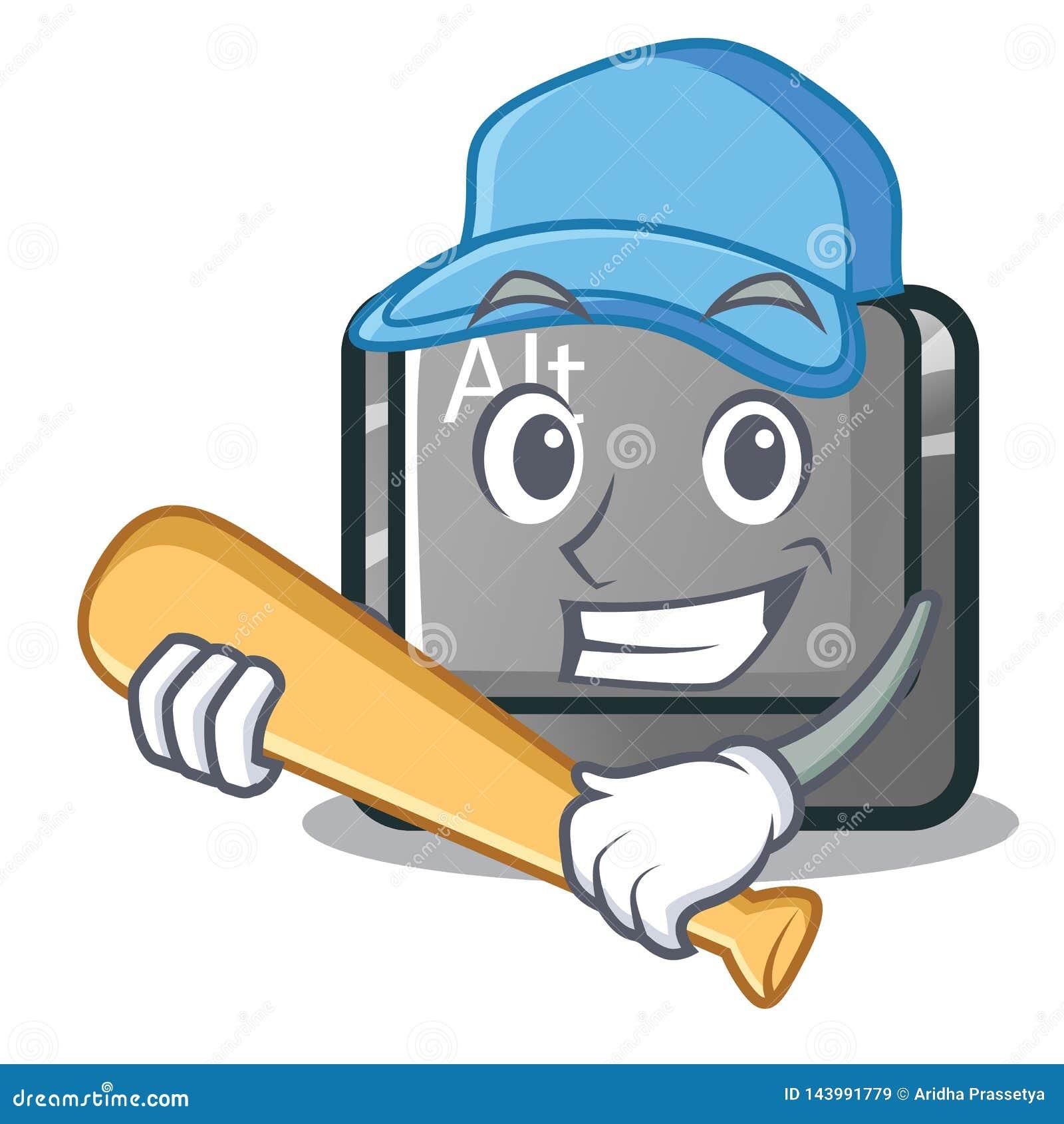 Giocar a baseballe il bottone dell alt nella forma del fumetto