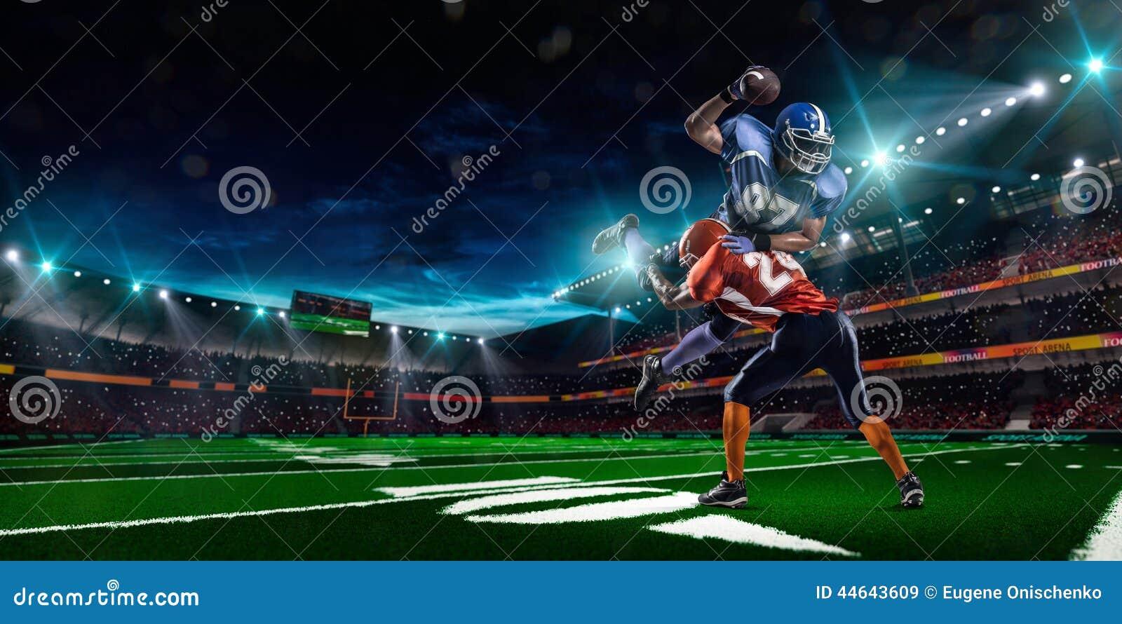 Giocatore di football americano nell azione