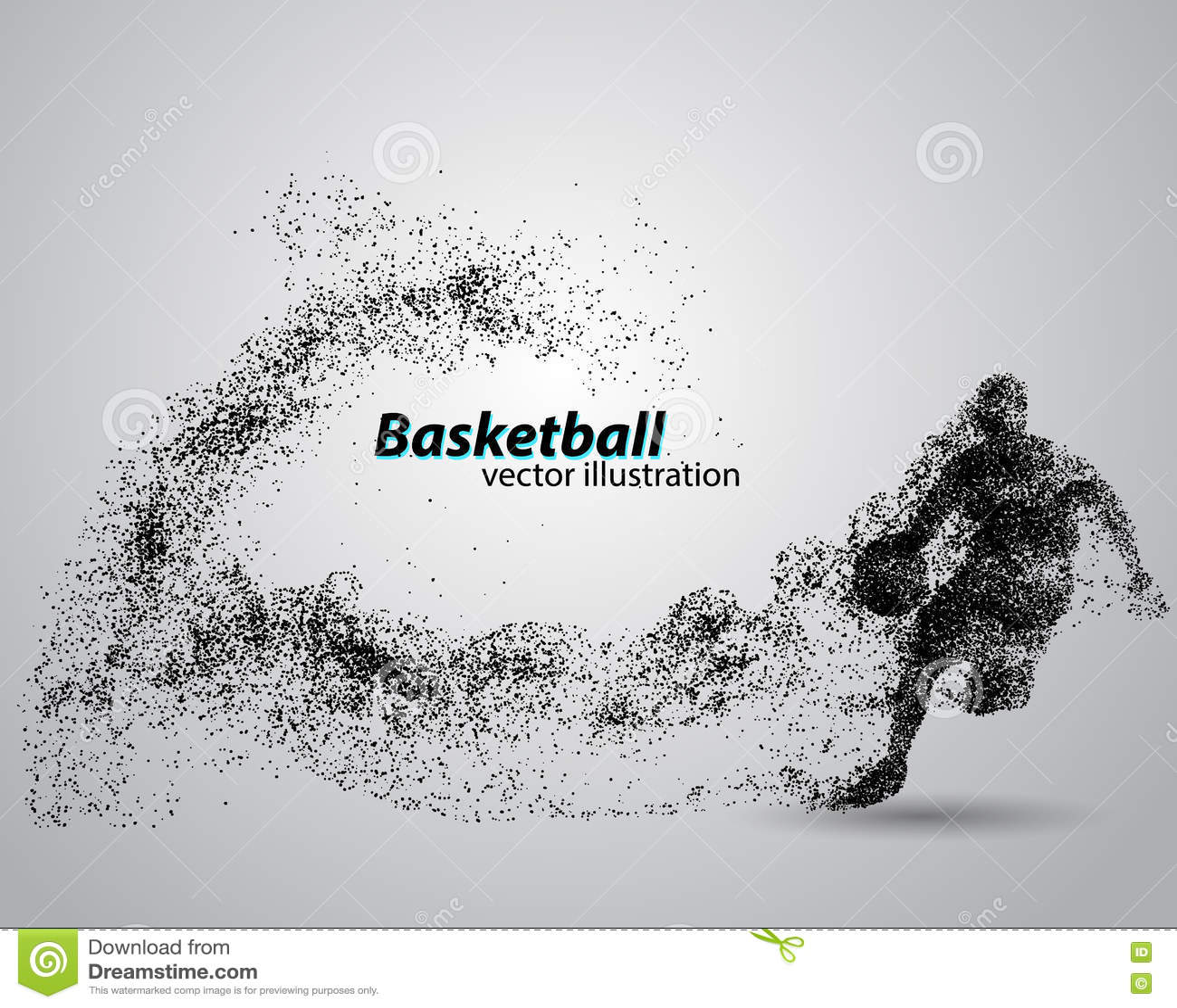 Giocatore di pallacanestro dalle particelle