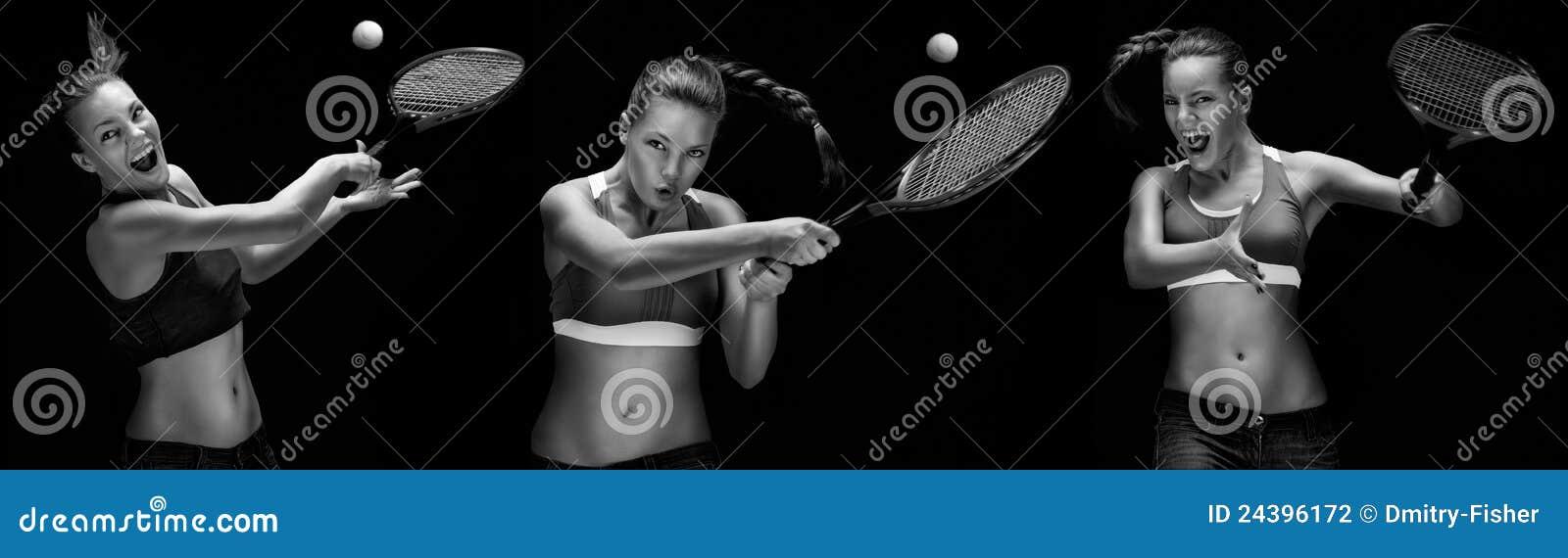 Giocatore di tennis della donna