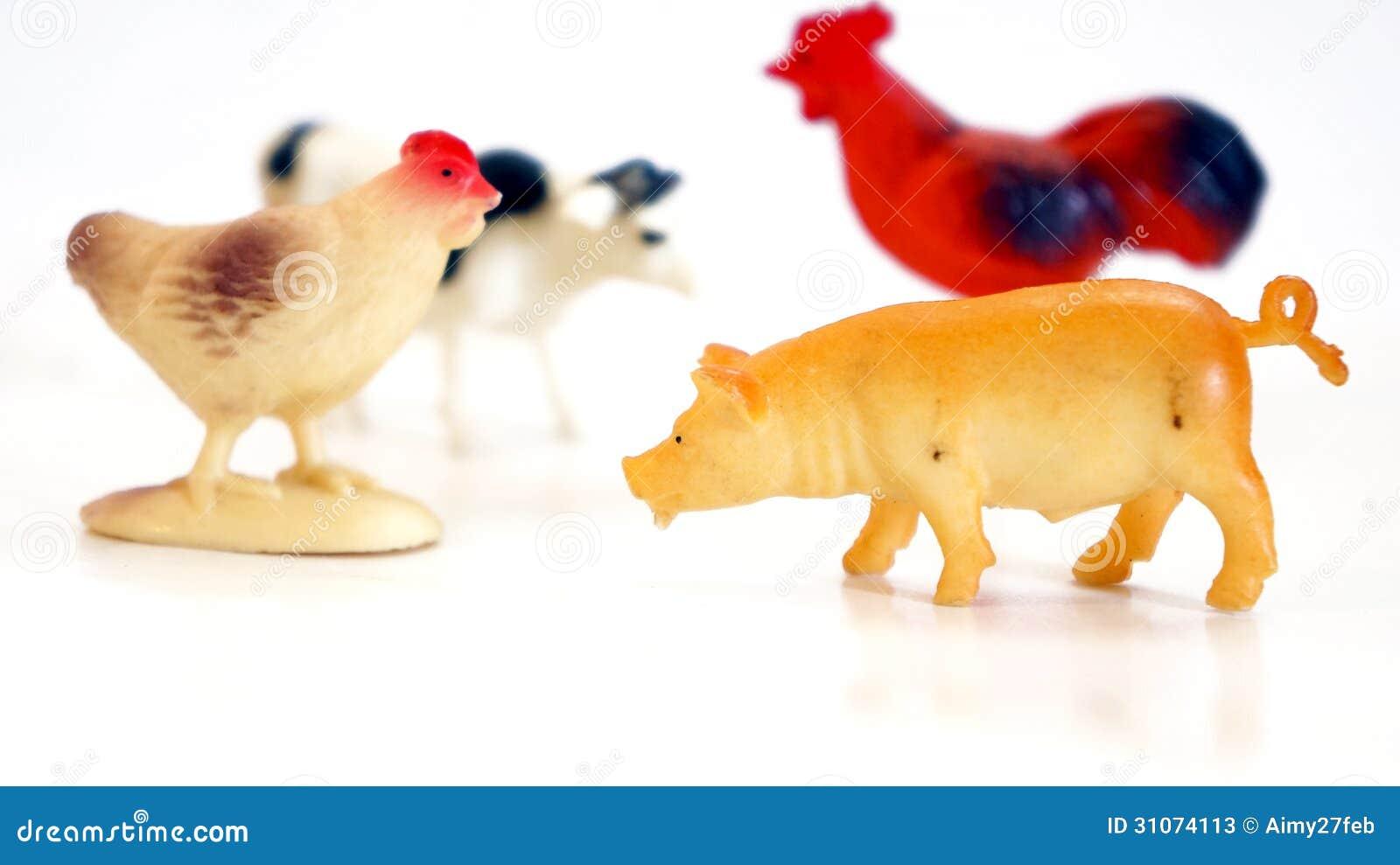 Giocattoli della fattoria degli animali immagine stock for Piani di riproduzione della fattoria