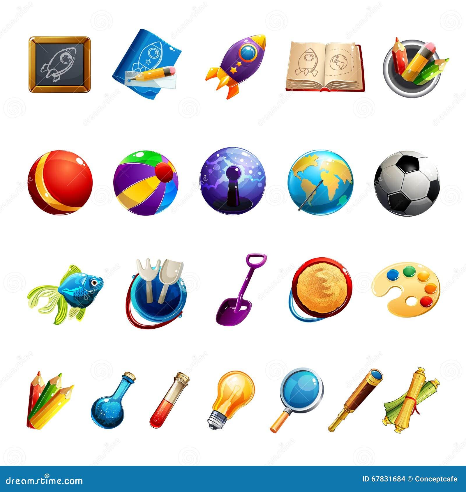 Giocattoli ed oggetti dei bambini illustrazione vettoriale for Programmi per progettare oggetti