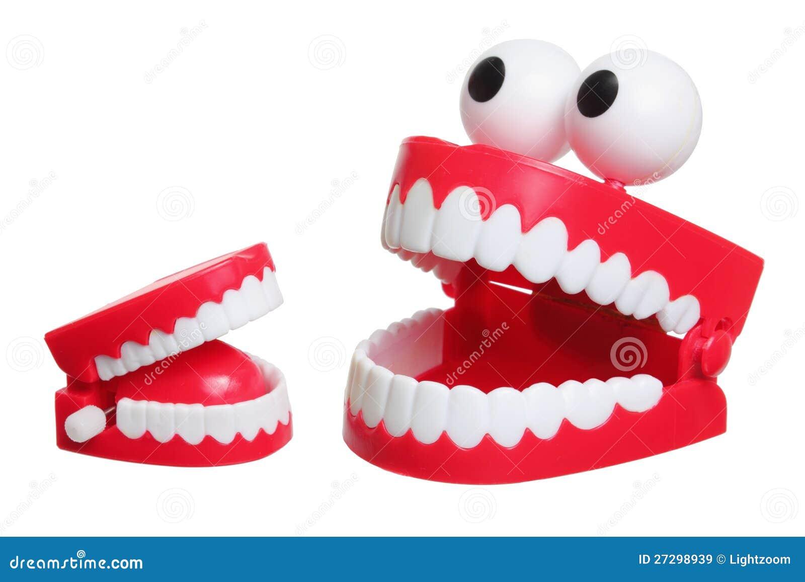 Giocattolo dei denti di schiamazzo