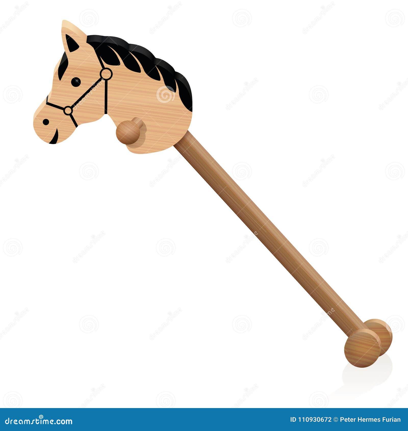 Cavallo Di Legno Giocattolo.Giocattolo Di Legno Di Childs Del Cavallo Di Legno Illustrazione