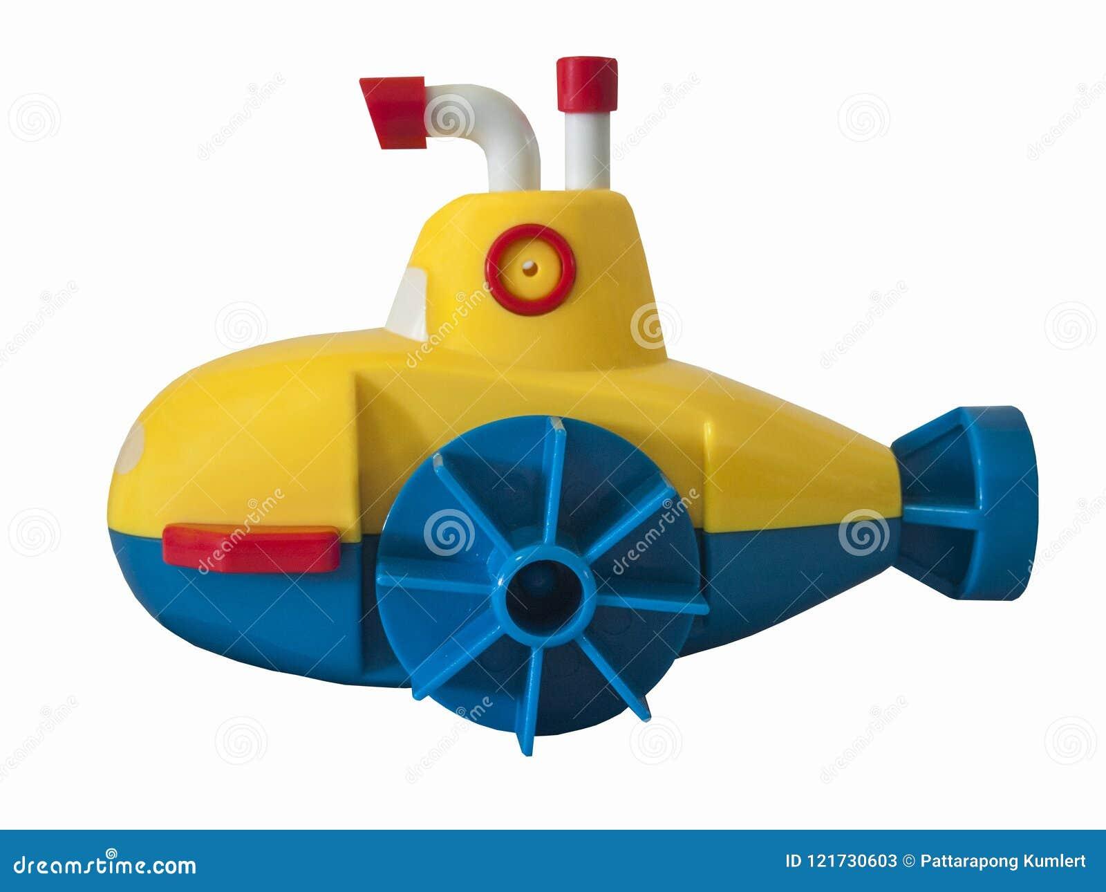 Giocattolo Sottomarino/bianco Isolato Immagine Stock - Immagine di grigio,  nave: 121730603