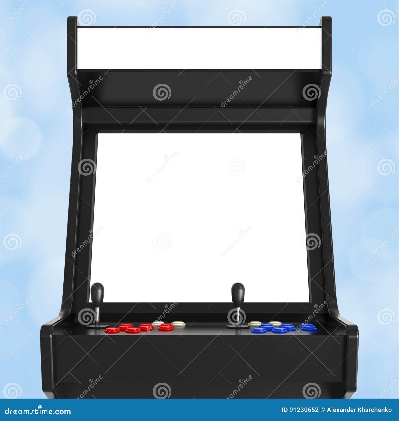Gioco Arcade Machine con lo schermo in bianco per la vostra progettazione 3d si strappano