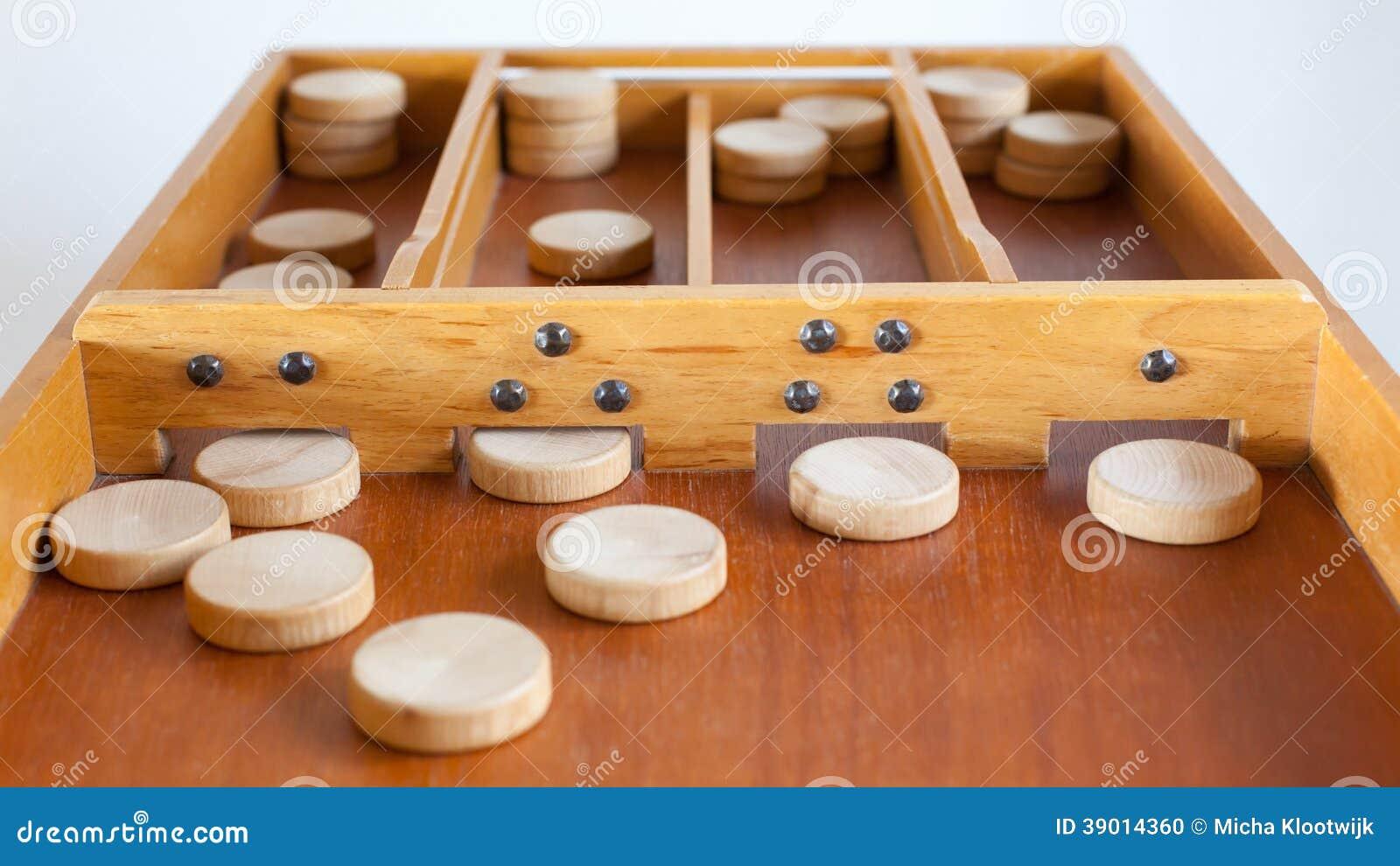 Gioco da tavolo di legno olandese tipico sjoelen for Tavolo legno vecchio usato