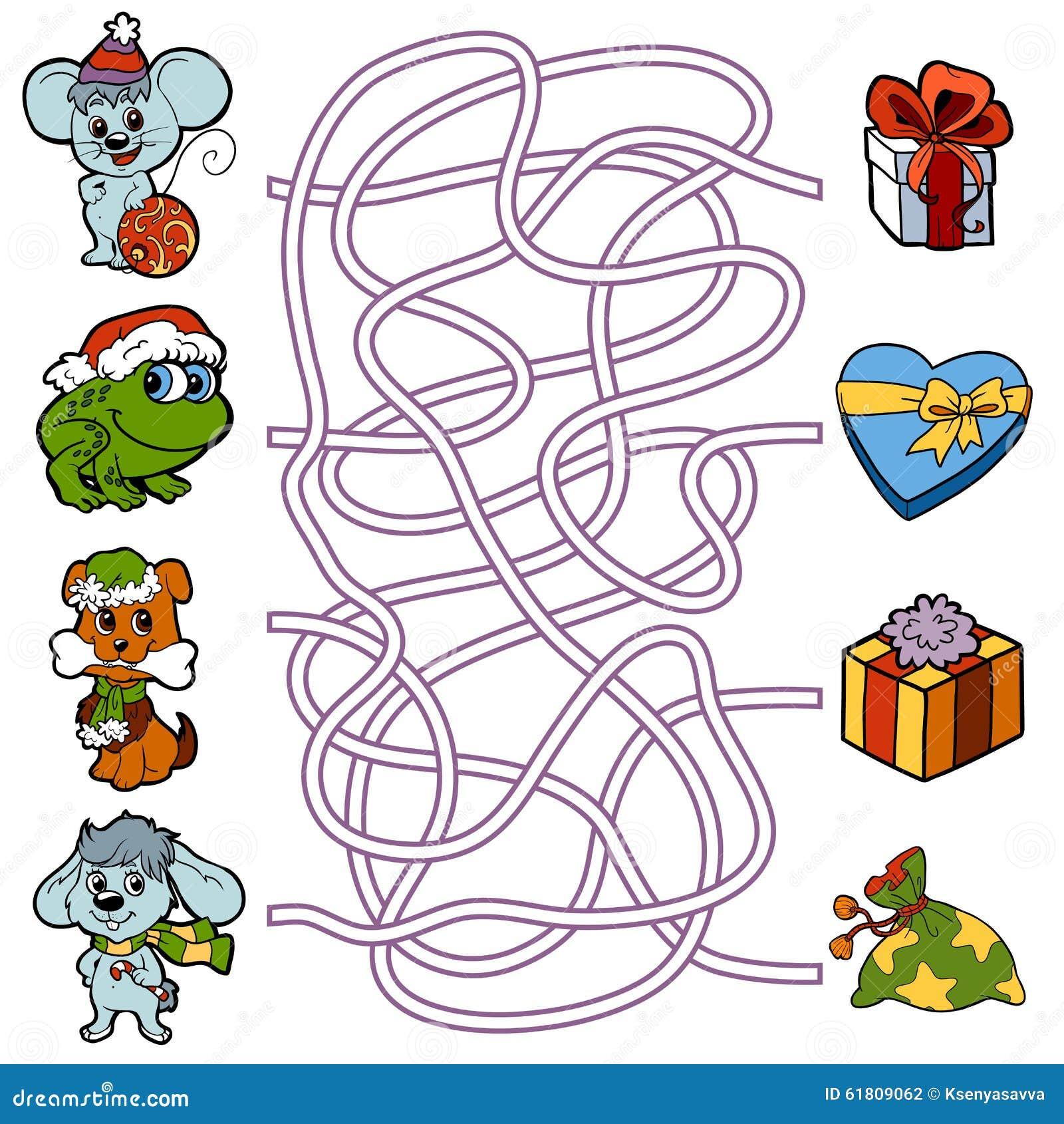 Super Gioco Del Labirinto Per I Bambini: Piccoli Animali E Regali Di  WQ17