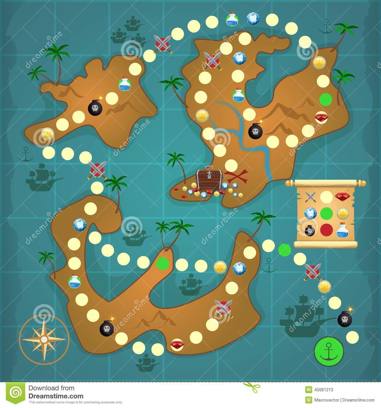 Desert Island Map Template