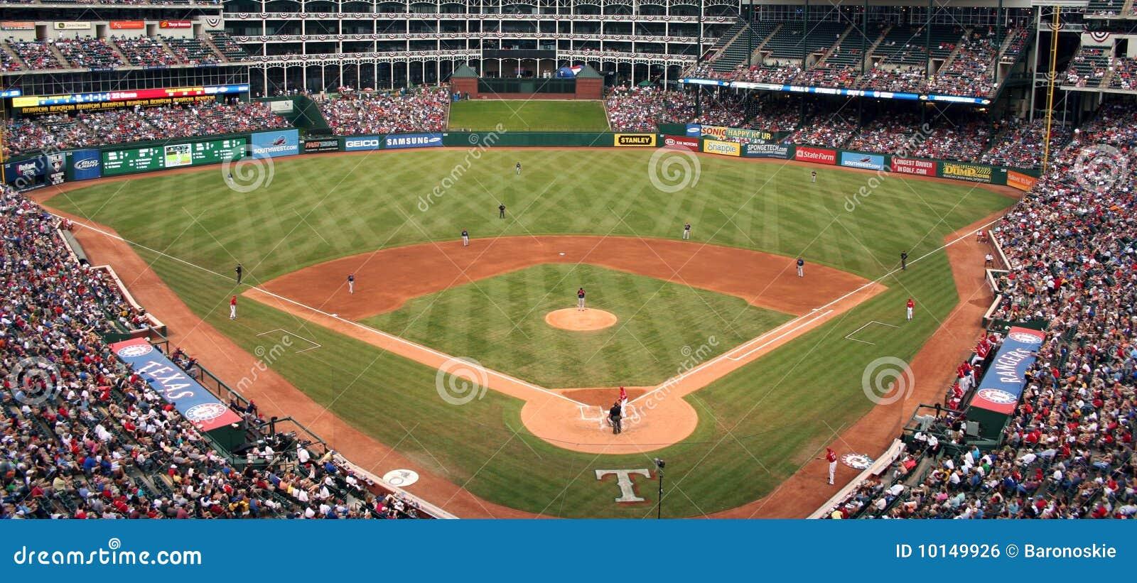 Gioco di baseball dei Texas Rangers