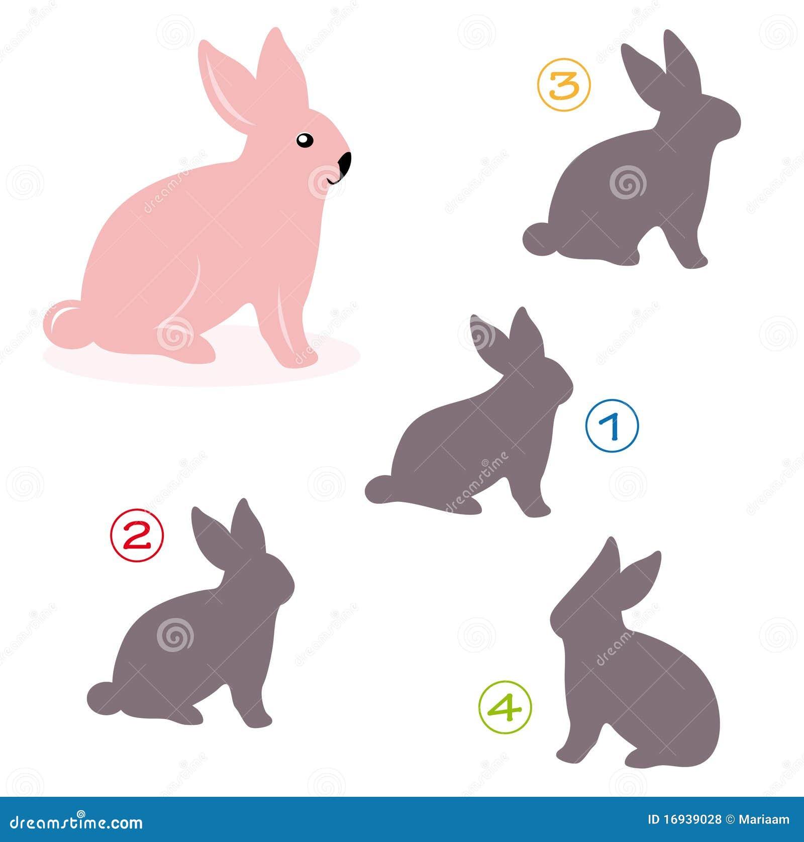 Gioco di figura - il coniglietto