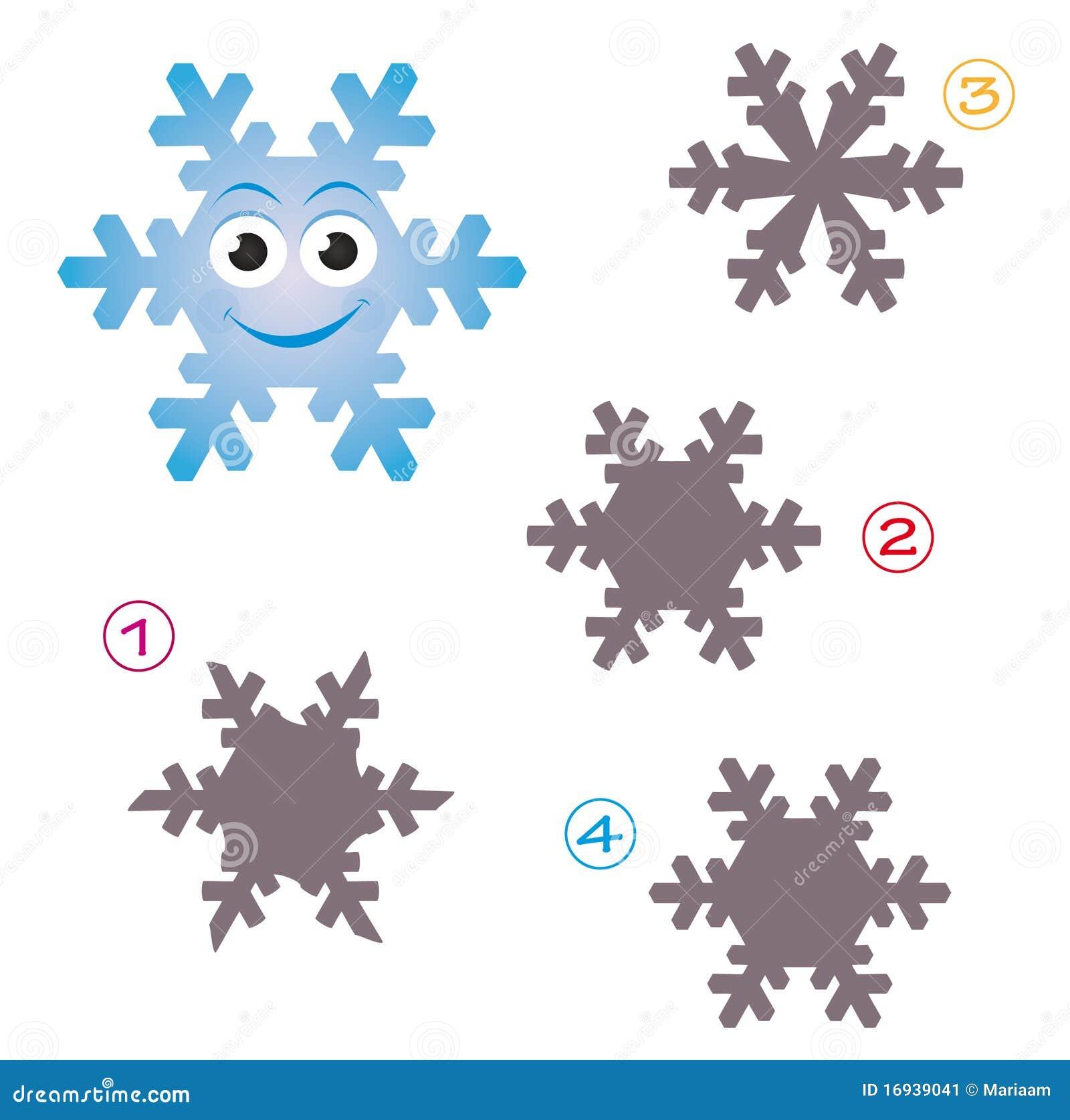 Gioco di figura - il fiocco di neve