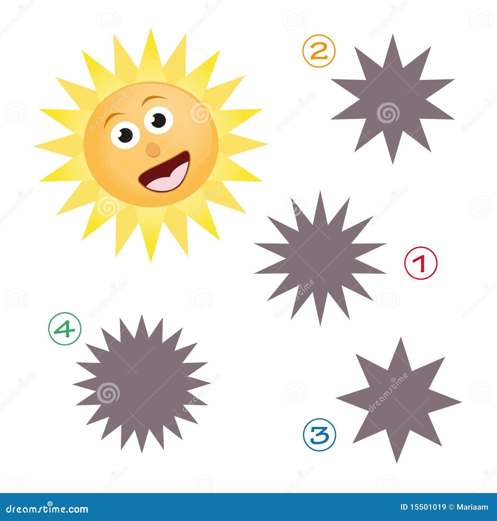 Gioco di figura - il sole