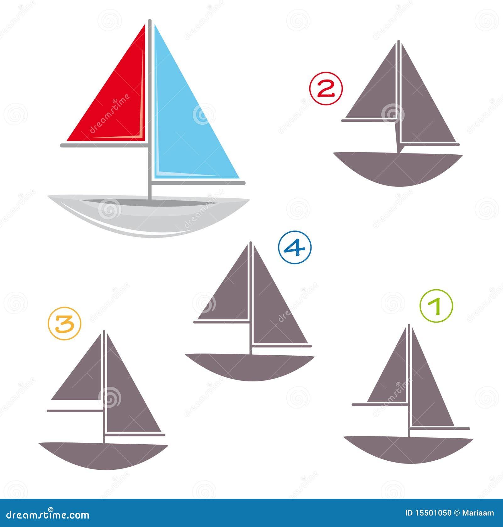 Gioco di figura - la barca a vela