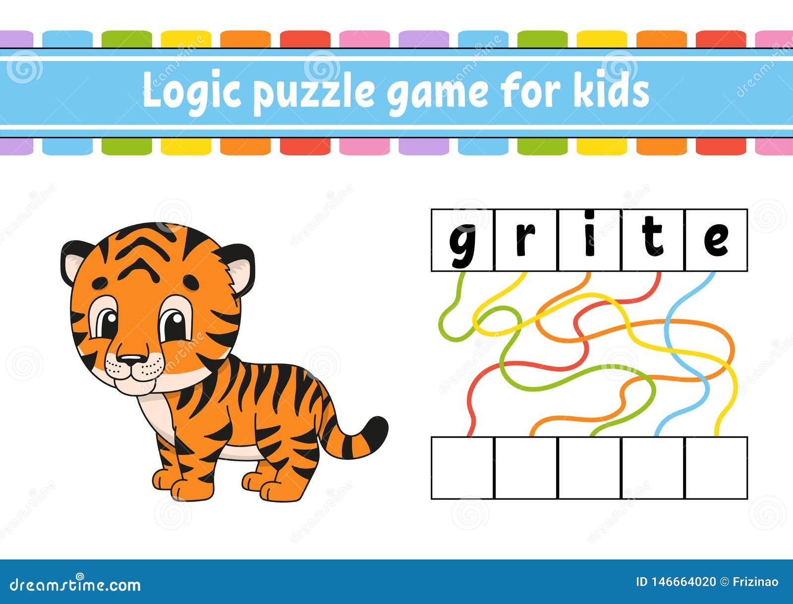 Gioco di puzzle di logica Apprendimento delle parole per i bambini Trovi il nome nascosto Foglio di lavoro di sviluppo di istruzi