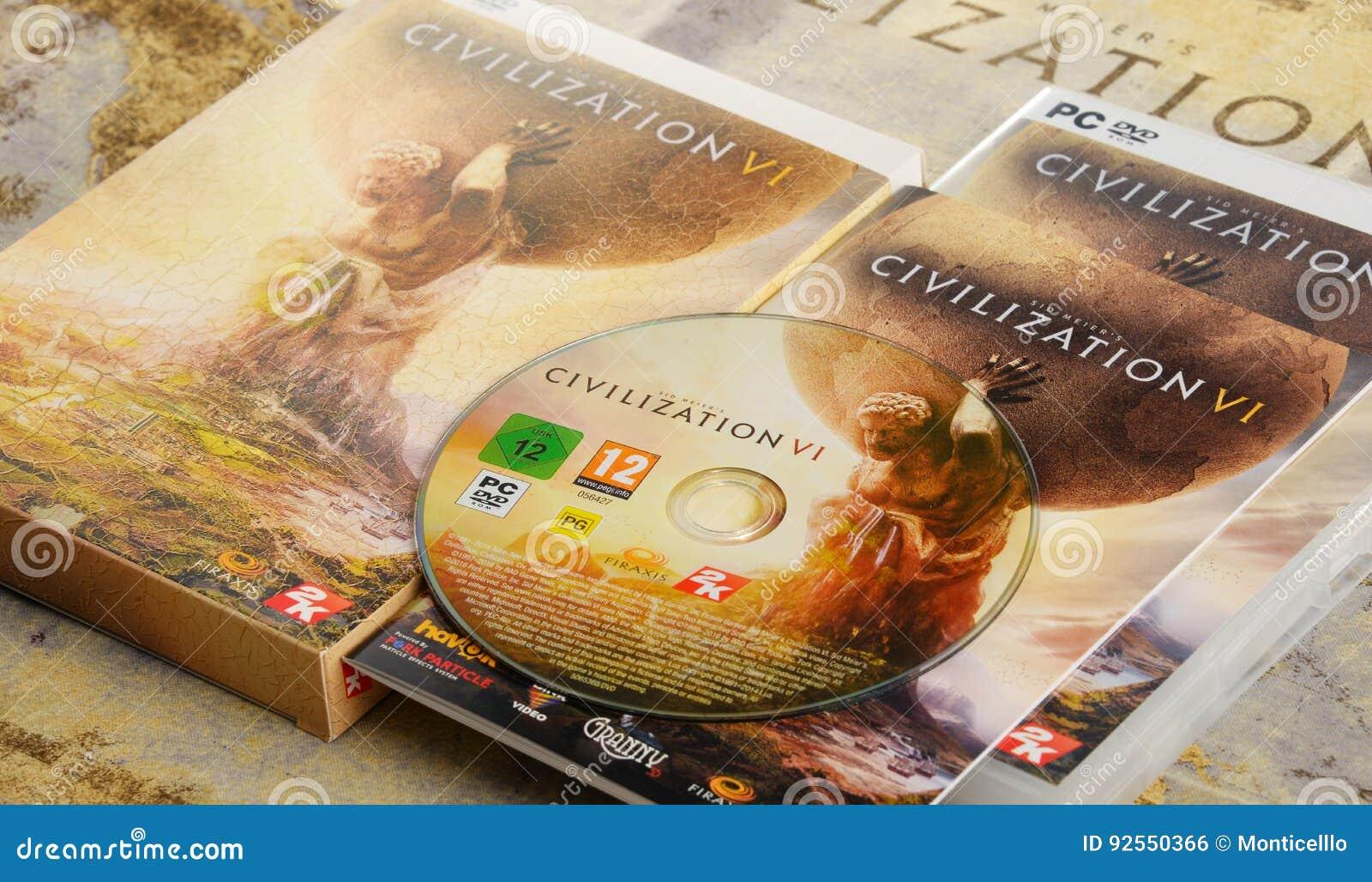 Gioco di strategia del computer della civilizzazione VI di Sid Meier