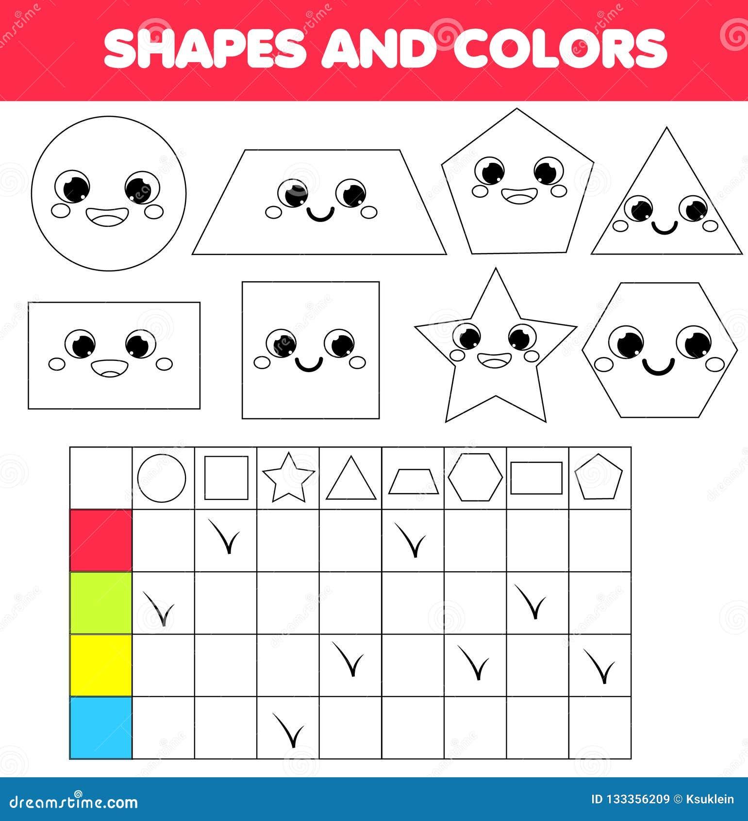Gioco educativo dei bambini Apprendimento le forme e dei colori geometrici per i bambini Attività per pre i bambini ed i bambini