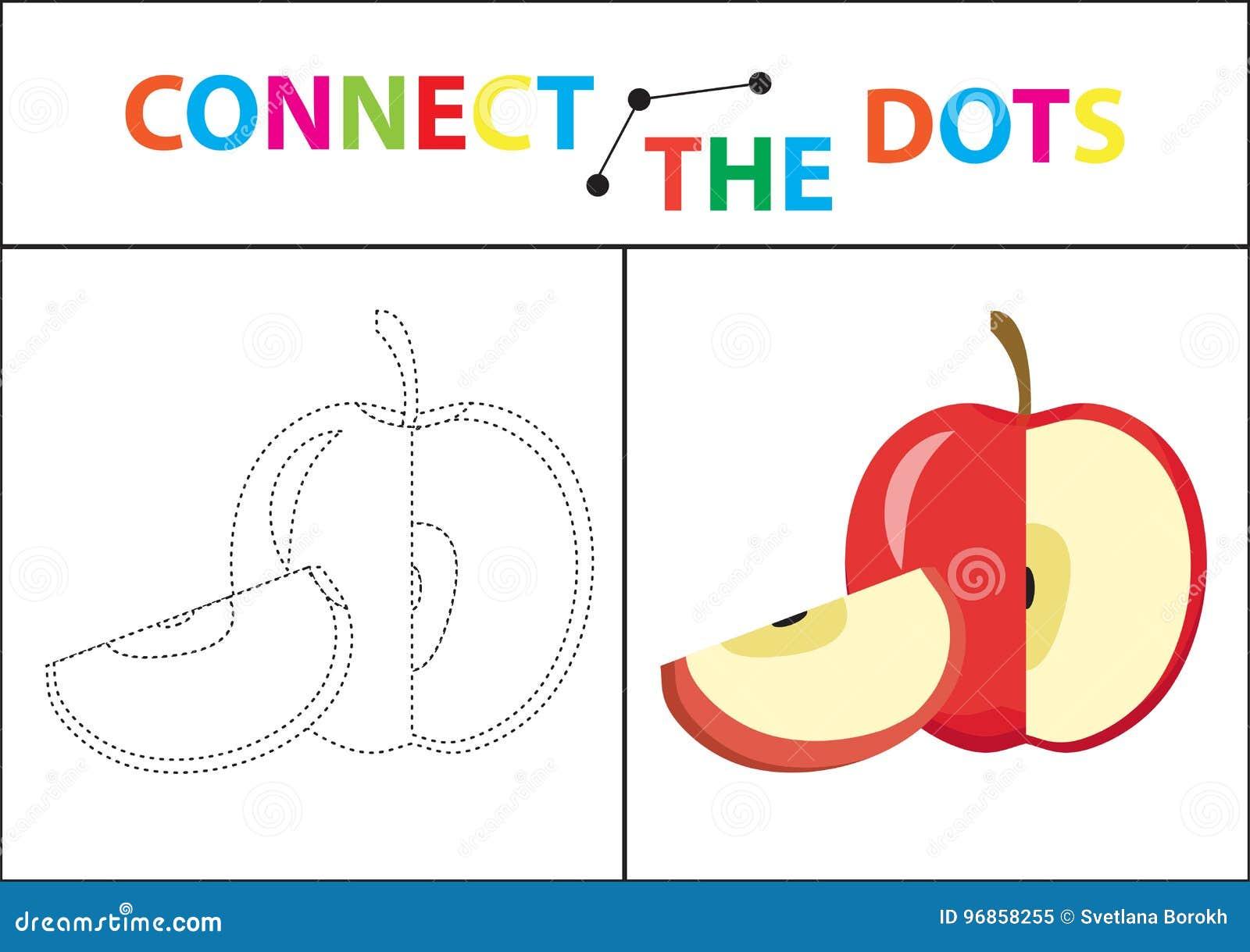 Gioco educativo dei bambini s per le capacità motorie Colleghi l immagine dei punti