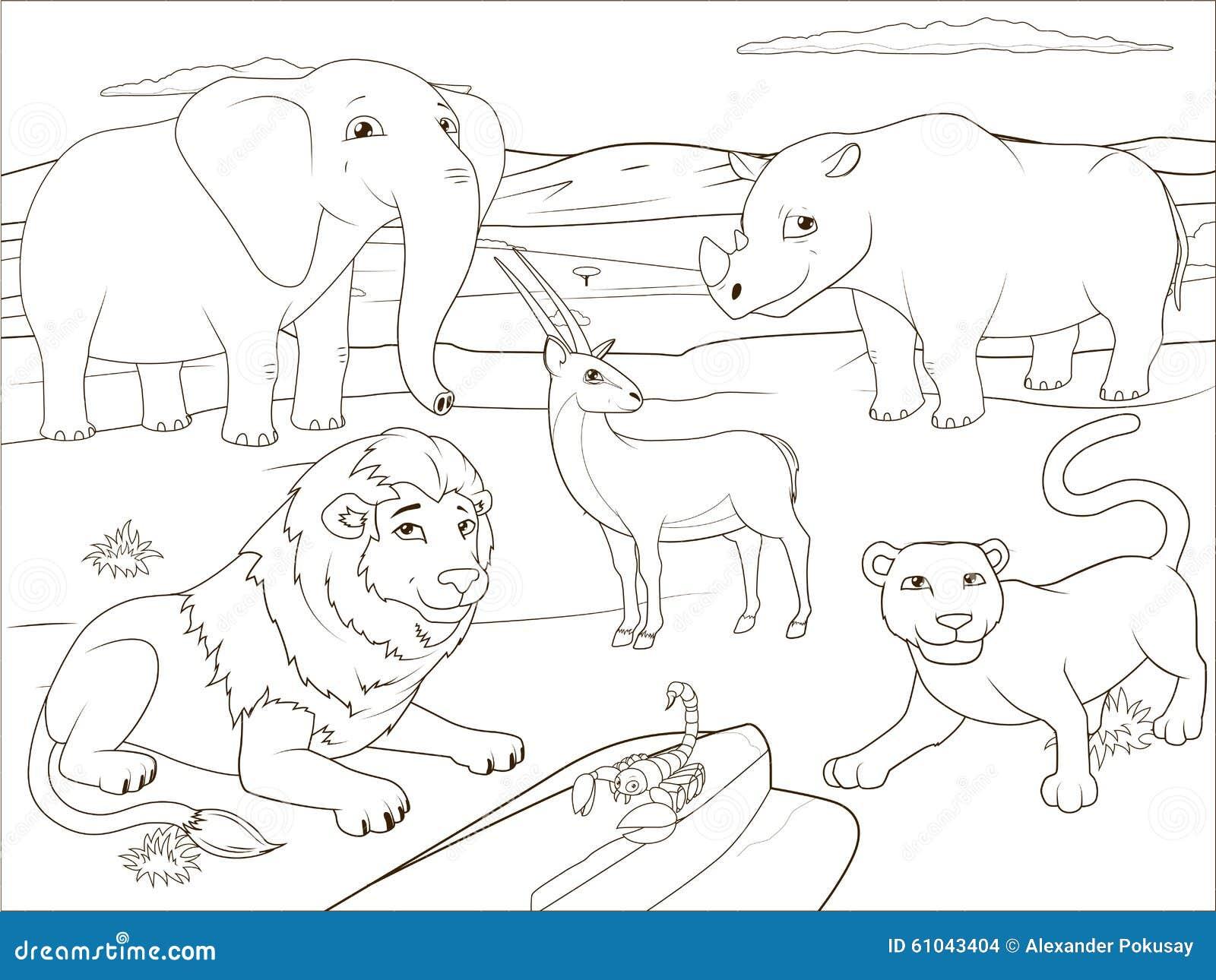 Gioco educativo del libro da colorare per i bambini - Libro da colorare elefante libro ...