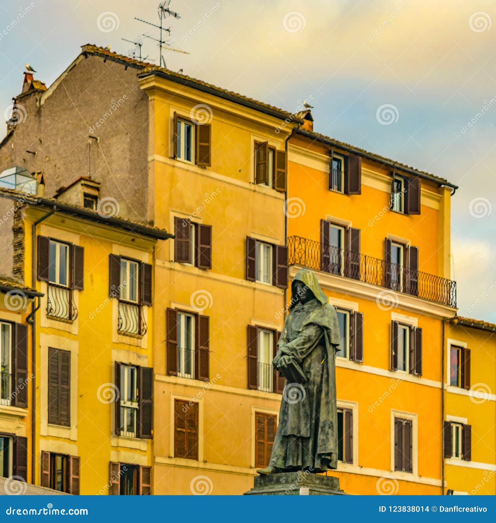 Giordano Bruno Sculpture, Rome, Italië