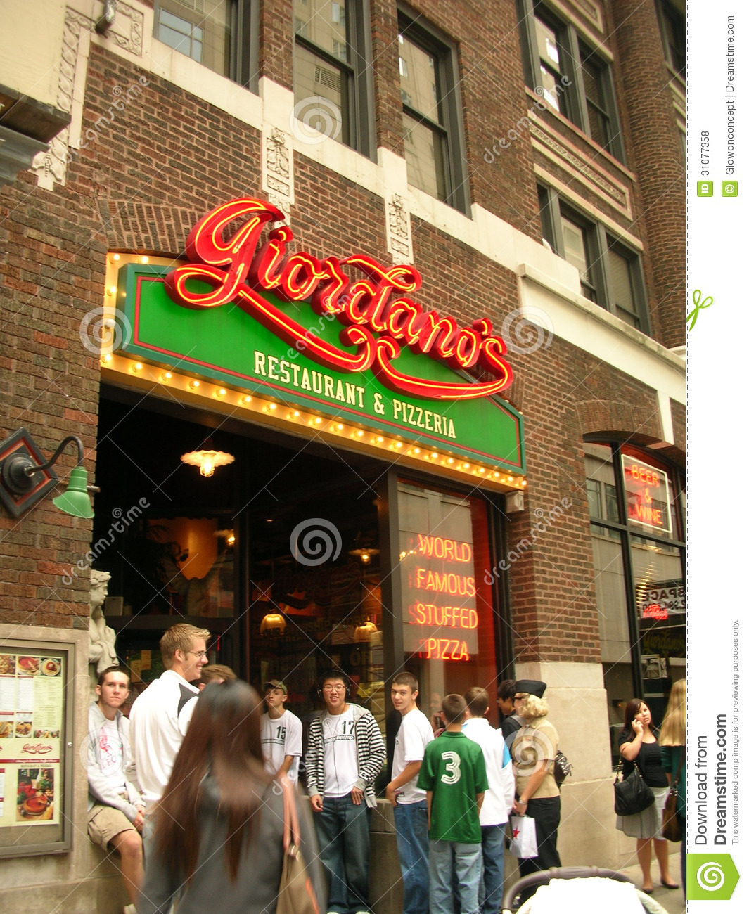 Giordanos Chicago Style Pizza Famous Restaurant Editorial
