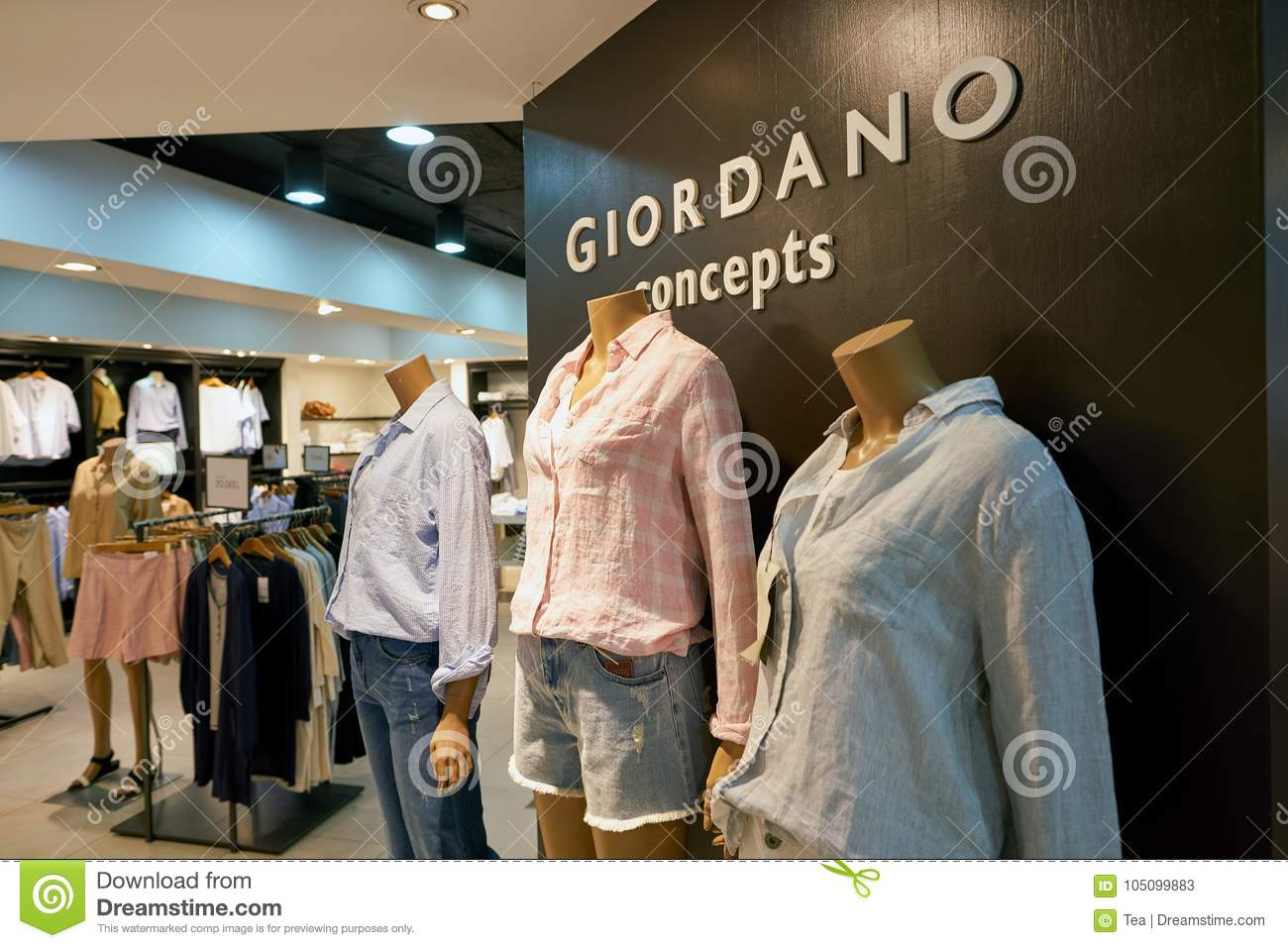 8b1bdfa6e50 ... display at Giordano store in Seoul. Giordano International Limited is  international retailer of men s